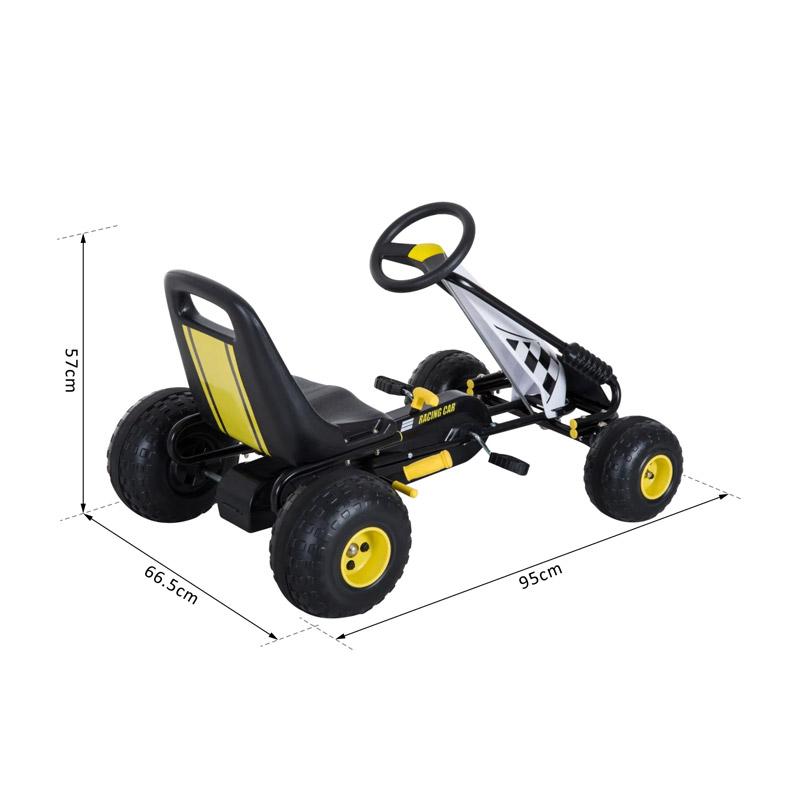 Παιδικό Αυτοκίνητο Go Kart με Πετάλια HOMCOM 341-020