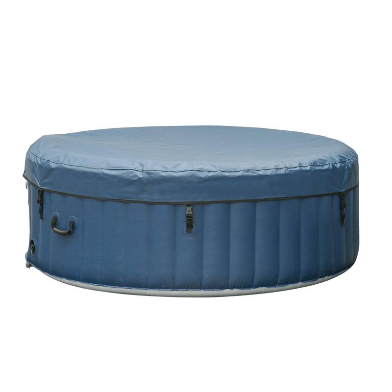 Υπαίθριο Φουσκωτό Θερμαινόμενο Υδρομασάζ Τζακούζι 4-6 Ατόμων 208 x 65 cm Outsunny 848-013V01