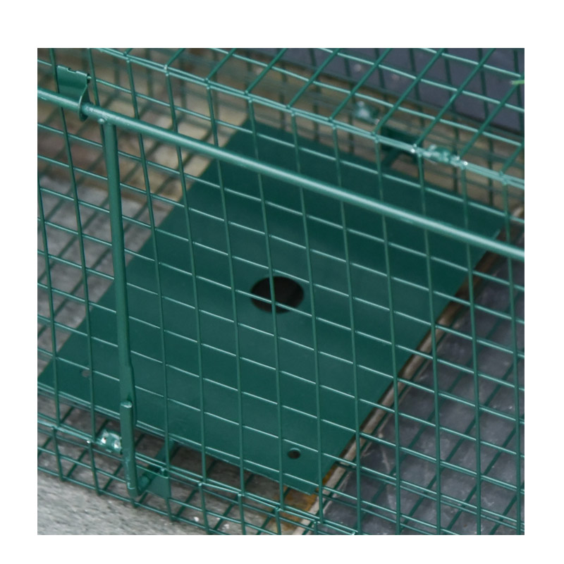 Μεταλλική Παγίδα - Κλουβί Ζώων με 2 Πόρτες 100 x 25 x 28 cm PawHut AB0-014