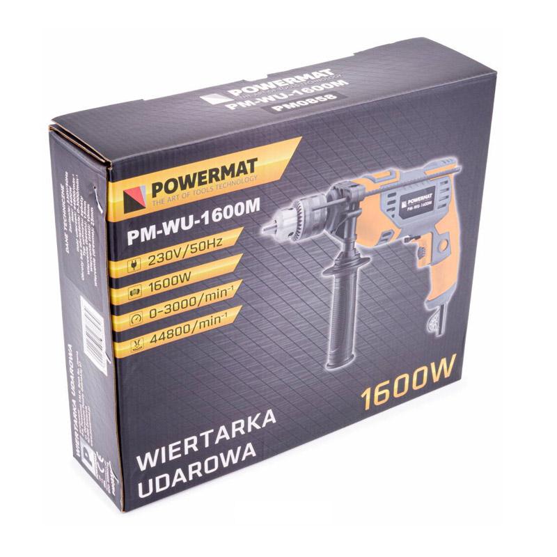 Ηλεκτρικό Κρουστικό Δράπανο 1600 W POWERMAT PM-WU-1600M