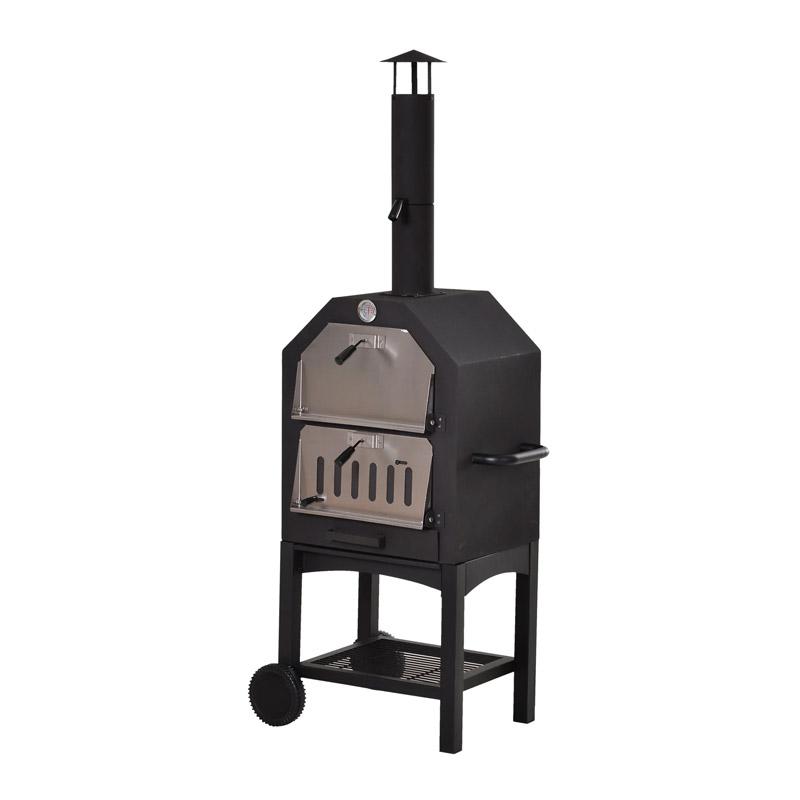 Φούρνος Πίτσας Εξωτερικού Χώρου με Κάρβουνο 50 x 36 x 160 cm Outsunny 846-051