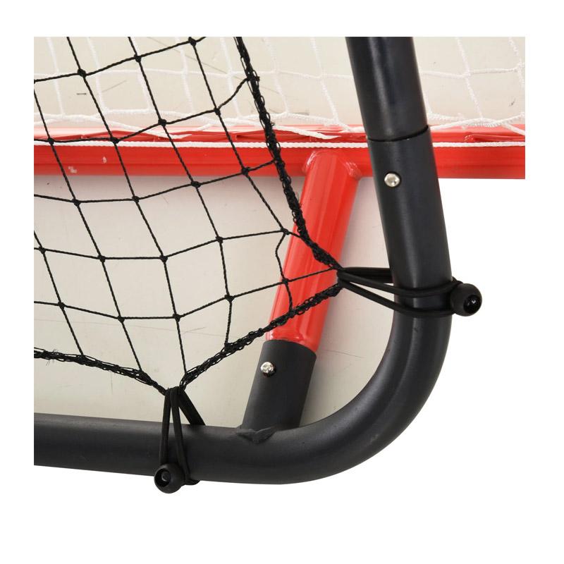 Πτυσσόμενη Μπασκέτα με Τέρμα Ποδοσφαίρου και Δίχτυ Επαναφοράς Μπαλών 3 σε 1 168 x 102 x 280 cm HOMCOM A90-207
