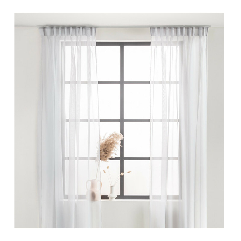 Σετ Κουρτίνες με Τρέσα 150 x 250 cm Χρώματος Λευκό 2 τμχ Lifa-Living 8720195383550
