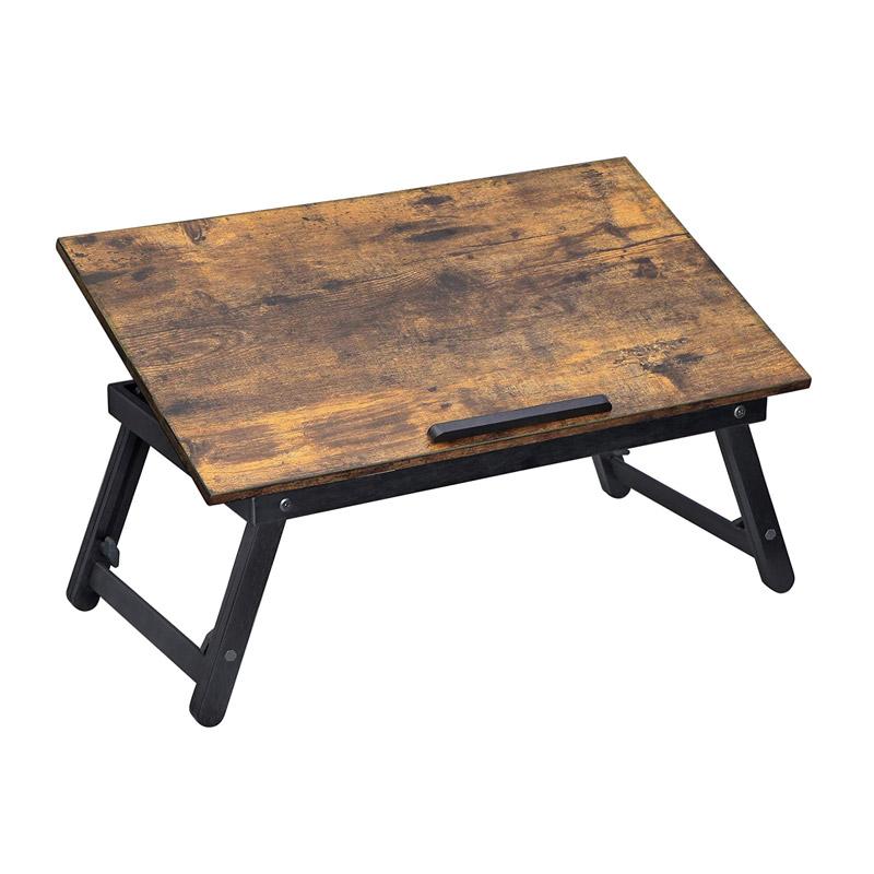 Μεταλλικό Βοηθητικό Πτυσσόμενο Τραπέζι Πολλαπλών Χρήσεων με Βάση για Laptop 60 x 35 x 21-31 cm Songmics LLD104BY