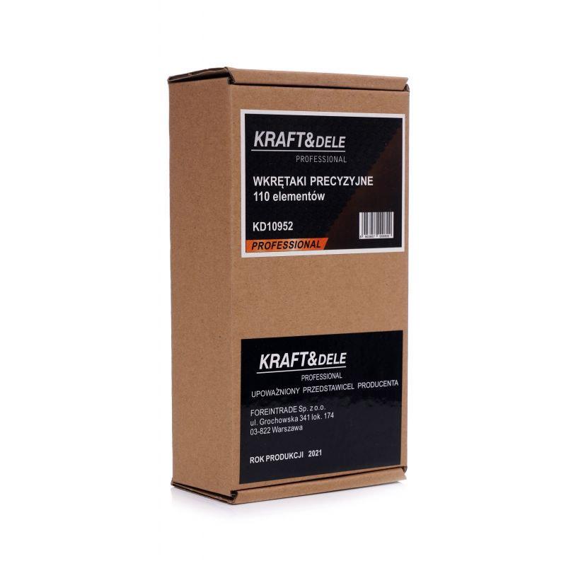 Σετ Κατσαβίδι με Μύτες Ακριβείας 110 τμχ Kraft&Dele KD-10952