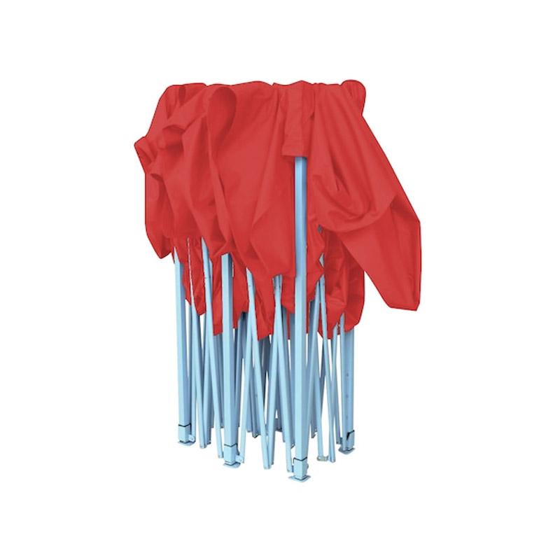 Πτυσσόμενο Κιόσκι Κήπου 2.9 x 4.25 x 3 m Χρώματος Κόκκινο Hoppline HOP1000736-2