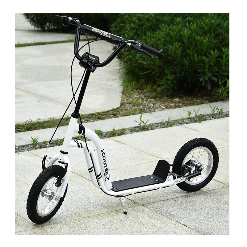 """Παιδικό Δίτροχο Πατίνι - Scooter με Φουσκωτούς Τροχούς 12"""" HOMCOM 371-017WT"""