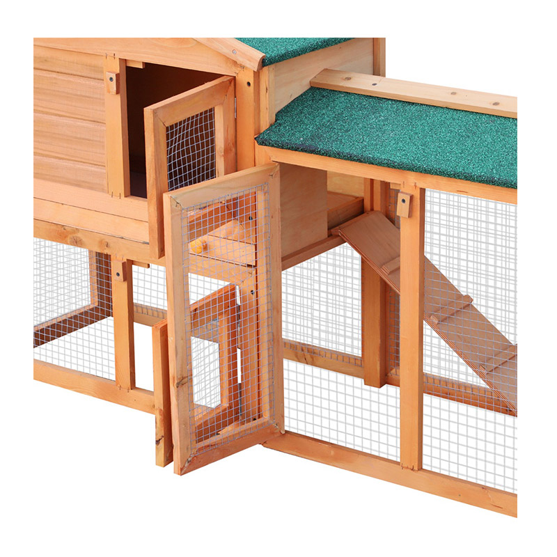 Ξύλινο Κλουβί Κουνελιών - Σπίτι Μικρών Ζώων 145 x 45 x 85 cm PawHut D51-012