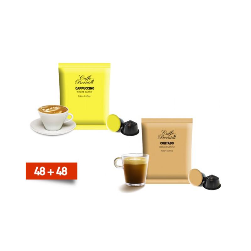Κάψουλες Bernini Caffe διπλής γεύσης cortado και cappucino