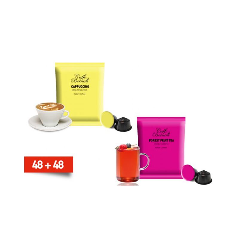 Κάψουλες Bernini Caffe διπλής γεύσης cappucino και τσαι