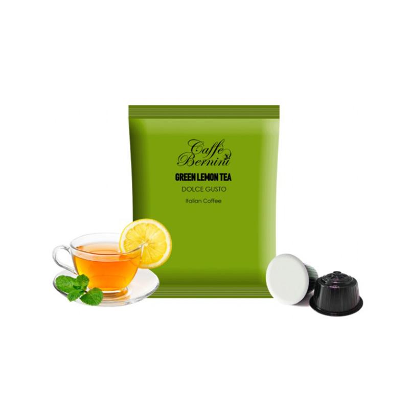Κάψουλες πράσινου τσαγιού Bernini Caffe με γεύση λεμόνι