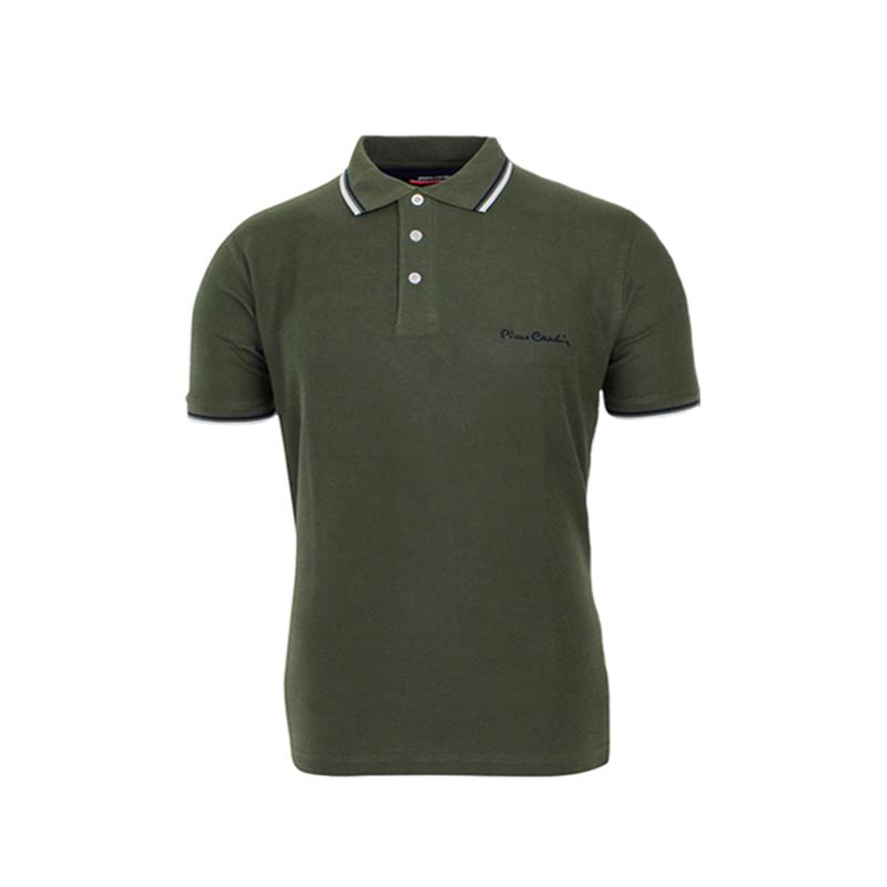 Polo Πράσινο - Χακί Pierre Cardin με Ρίγα 01-15-99 Khaki