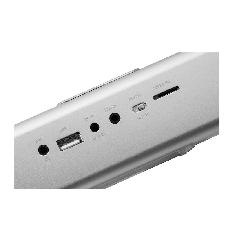 Φορητό Στερεοφωνικό Ηχείο Bluetooth / DAB Technaxx Χρώμα Ασημί BT-X29
