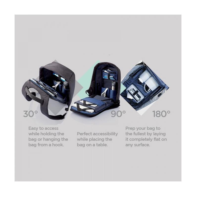 Αντικλεπτικό Σακίδιο Πλάτης Με Θύρα USB Bobby XD Design ΜαύροΑντικλεπτικό Σακίδιο Πλάτης Bobby XD Design Μαύρο