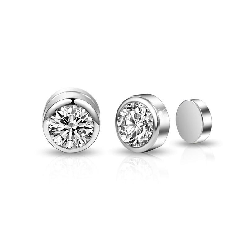 Σκουλαρίκια με Μαγνήτη Philip Jones με Κρύσταλλα Swarovski®
