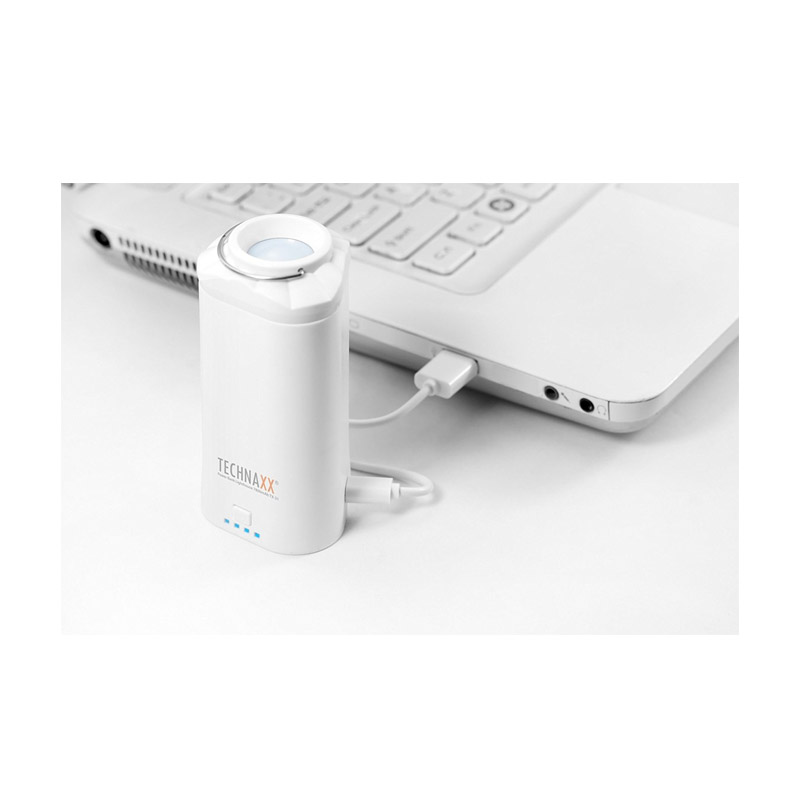 Power Bank - Φανάρι Technaxx με Εφέ Φωτισμού Χρώματος Λευκό TX-31-white
