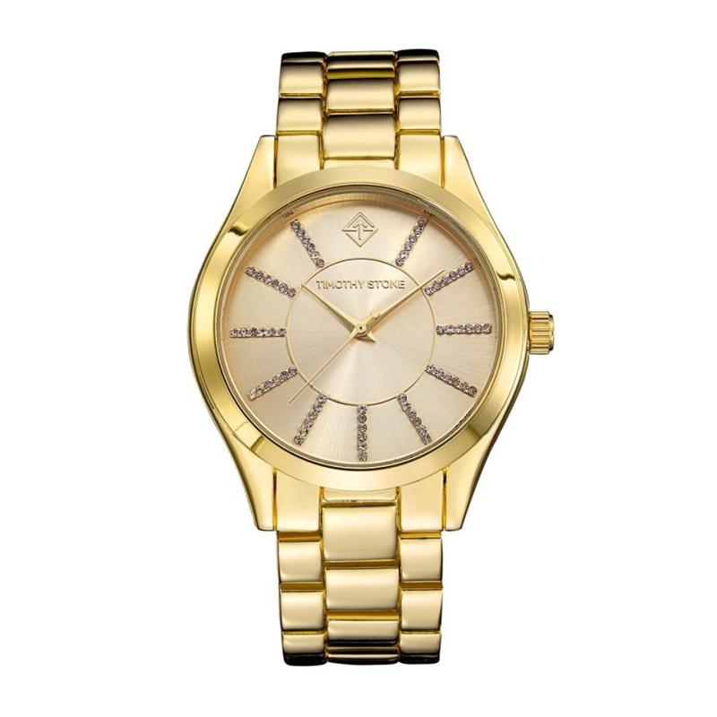 Γυναικείο Ρολόι Χρώματος Χρυσό με Μεταλλικό Μπρασελέ και Κρύσταλλα Swarovski® Timothy Stone C-012-ALGD