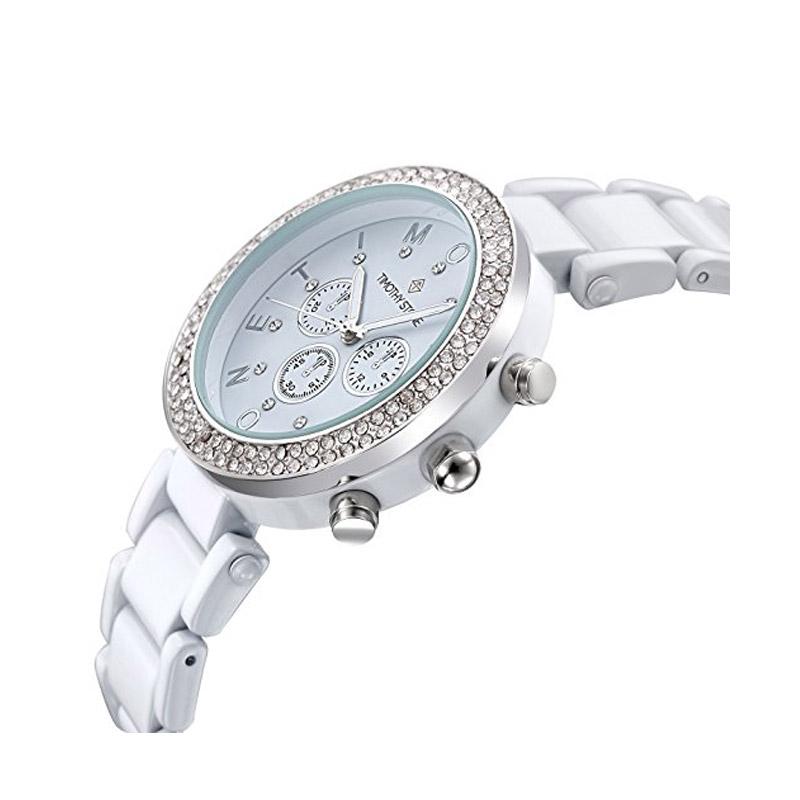 ... Γυναικείο Ρολόι Χρώματος Άσπρο με Μεταλλικό Μπρασελέ και Κρύσταλλα  Swarovski® Timothy Stone D-021 ... 8a2f0be4883