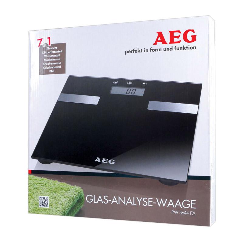 Ψηφιακή Ζυγαριά Μπάνιου Λιπομετρητής Χρώματος Μαύρο AEG PW5644