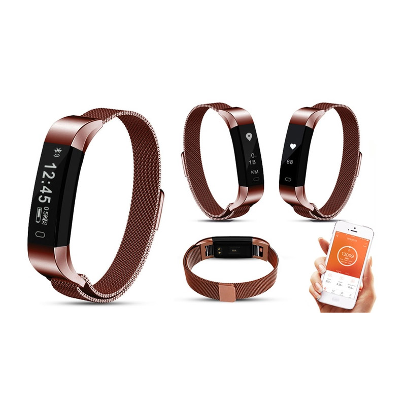 Ρολόι Fitness Tracker Aquarius με Μετρητή Καρδιακών Παλμών Χρώματος Bronze R158042