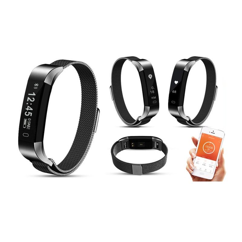 Ρολόι Fitness Tracker Aquarius με Μετρητή Καρδιακών Παλμών Χρώματος Γκρι R158038