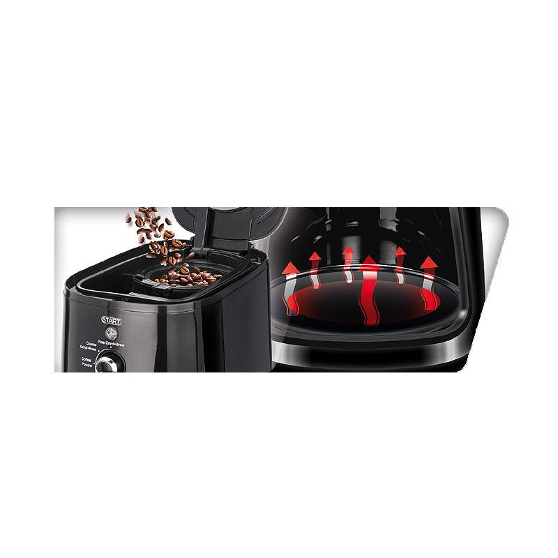 Καφετιέρα Φίλτρου με Μύλο Άλεσης Καφέ MPM MKW-04