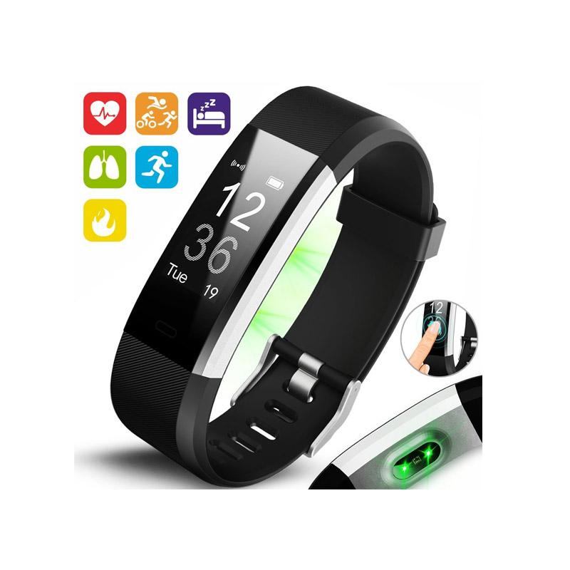 Ρολόι Fitness Tracker Aquarius AQ125HR με Μετρητή Καρδιακών Παλμών Χρώματος Μαύρο R157698
