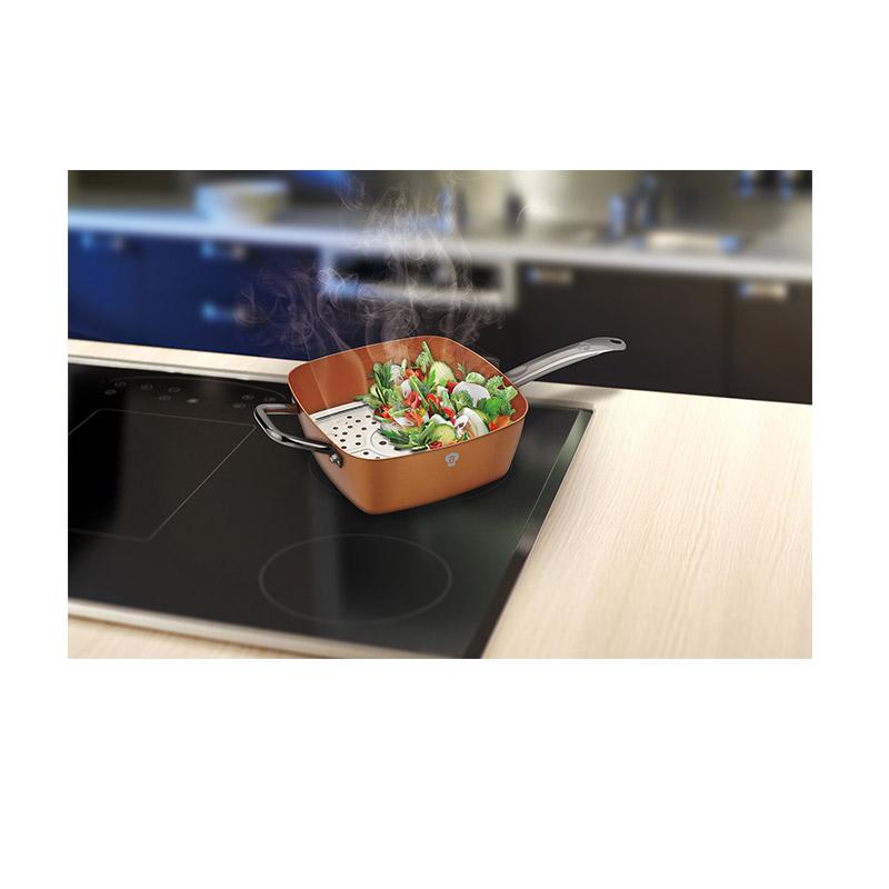 Αντικολλητικό Βαθύ Τηγάνι με Καπάκι, Δίσκο Ψησίματος και Καλάθι Blaumann Le Chef Collection BL-3367
