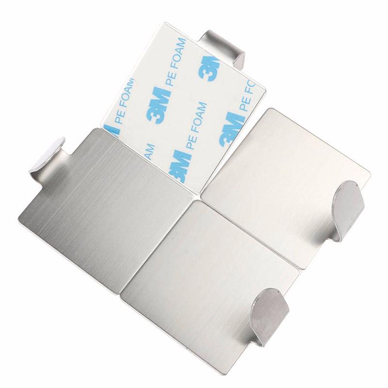 Σετ Αυτοκόλλητες Κρεμάστρες Τοίχου 4 τμχ από Ανοξείδωτο Ατσάλι GB-5031
