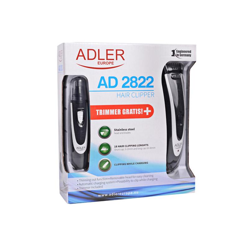 Σετ Κουρευτική - Ξυριστική Μηχανή και Τρίμμερ Adler AD-2822