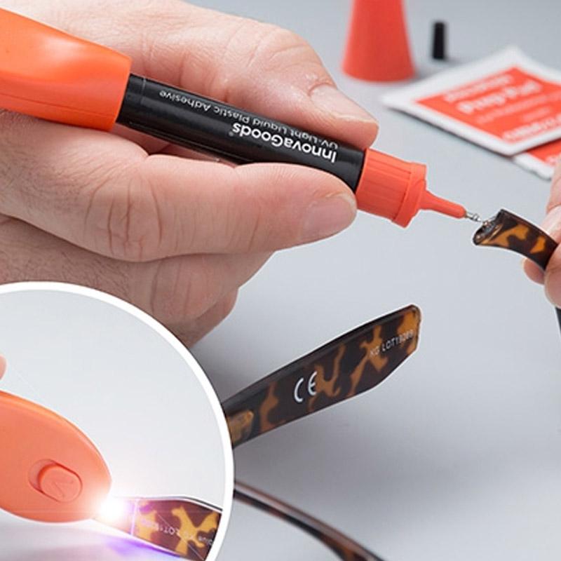 Εργαλείο Γρήγορης Συγκόλλησης Υγρού Πλαστικού με UV Υπεριώδες Φως InnovaGoods V0100447