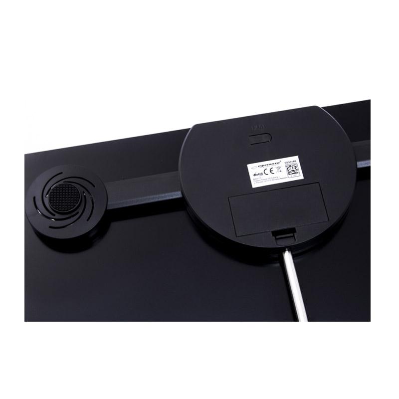 Ηλεκτρονική Ζυγαριά Μπάνιου Λιπομετρητής με Bluetooth 8 σε 1 Esperanza Χρώματος Μαύρο EBS016K