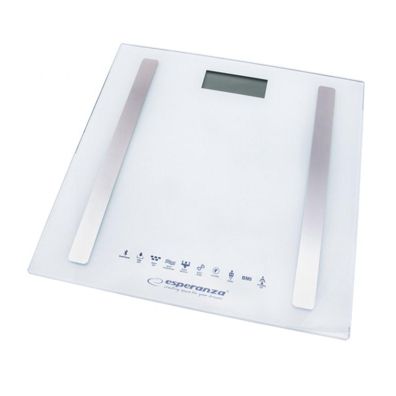 Ηλεκτρονική Ζυγαριά Μπάνιου Λιπομετρητής με Bluetooth 8 σε 1 Esperanza Χρώματος Λευκό EBS016W