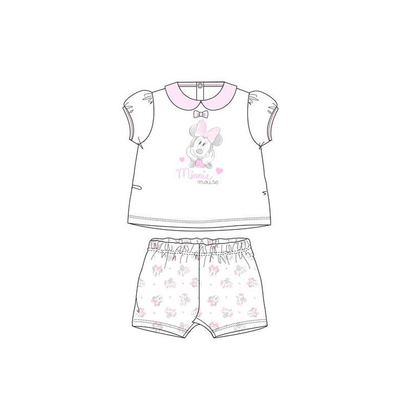 Βρεφικές Πιτζάμες Χρώματος Λευκό Minnie Disney ER0014
