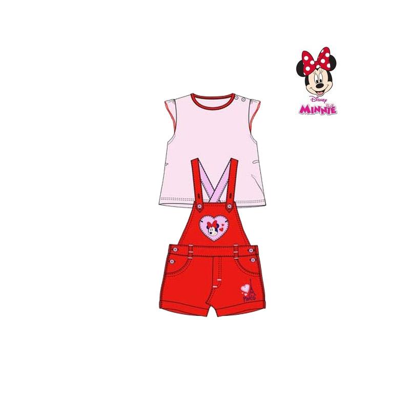 Βρεφικό Σετ Μπλούζα - Σαλοπέτα Χρώματος Κόκκινο Minnie Disney AQE0048