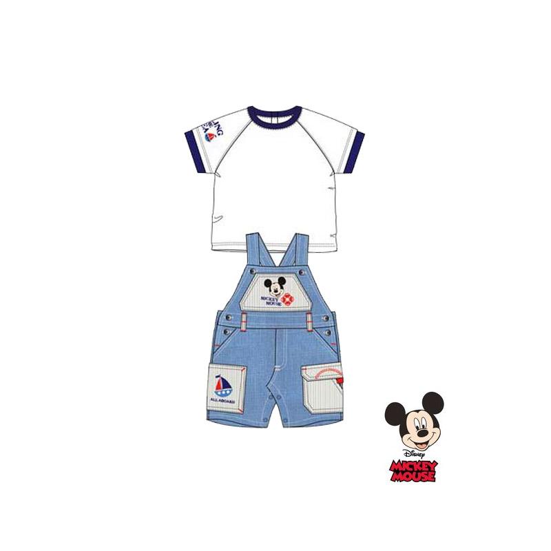 Βρεφικό Σετ Μπλούζα - Σαλοπέτα Χρώματος Λευκό Mickey Disney AQE0018