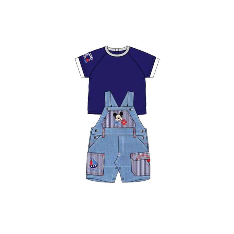 Βρεφικό Σετ Μπλούζα - Σαλοπέτα Χρώματος Μπλε Mickey Disney AQE0018