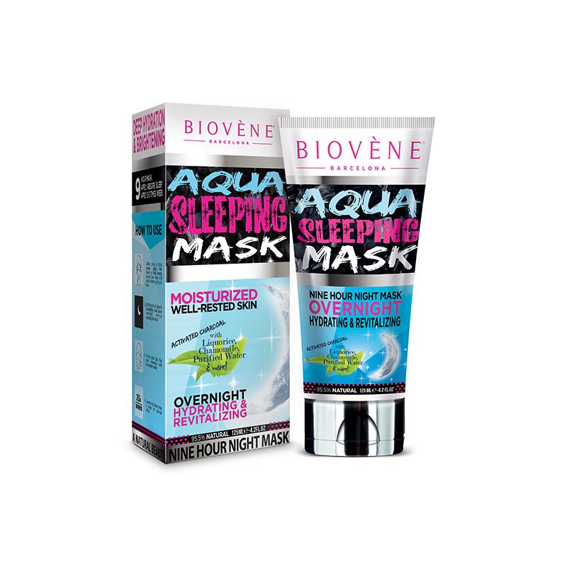 Ενυδατική Μάσκα Νυκτός με Ενεργό Άνθρακα Biovene BV-SLEEPMASK125
