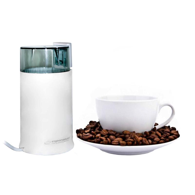 Ηλεκτρικός Μύλος Άλεσης Καφέ και Μπαχαρικών Χρώματος Λευκό Esperanza EKC-001