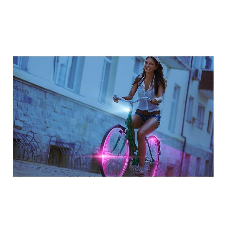 Φώτα LED για Τροχούς Ποδηλάτου Χρώματος Ροζ 2 τμχ SPM Wheel LED Lights