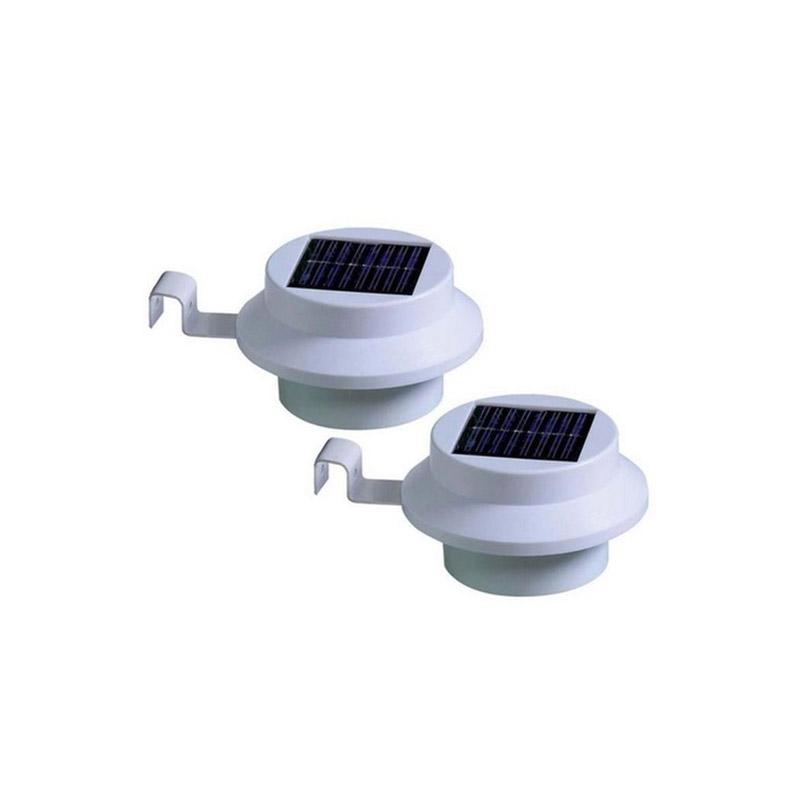 Ηλιακά Φώτα με LED Φωτισμό Χρώματος Λευκό 2 τμχ SPM GUTTER-WHT