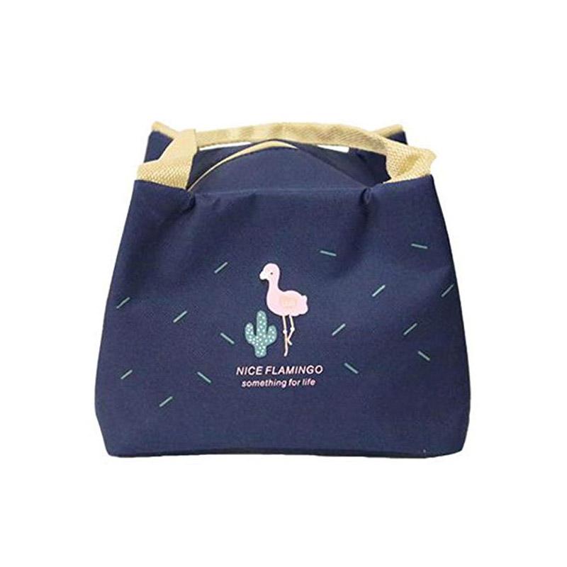 Ισοθερμική Τσάντα Φαγητού με Σχέδιο Φλαμίνγκο Χρώματος Μπλε V2 SPM VL3418