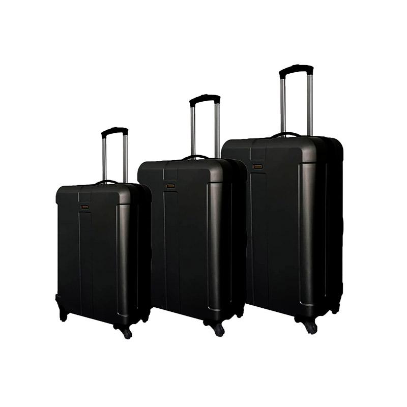 Σετ 3 Βαλίτσες Χρώματος Μαύρο SPM W9004