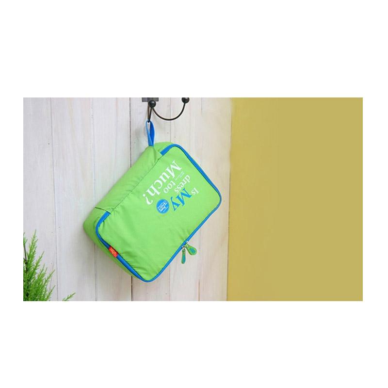 fffbca77126 Σετ 5 Αδιάβροχα Τσαντάκια Ταξιδίου σε Διάφορα Μεγέθη Χρώματος Πράσινο  5pcluggorgan-green
