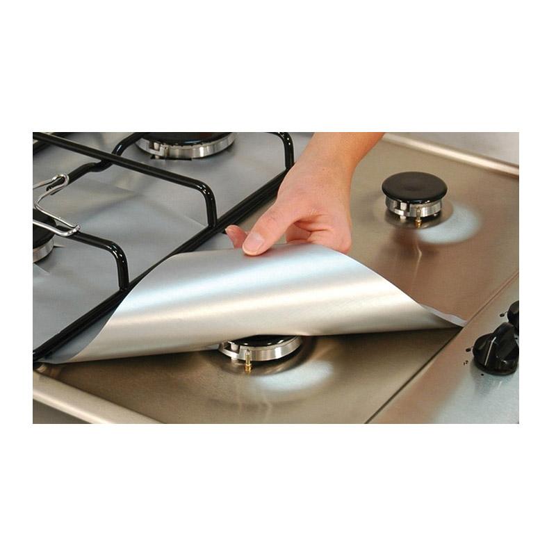 Σετ Προστατευτικές Επιφάνειες για Εστίες Αερίου Χρώματος Ασημί 4 τμχ SPM Hobprotect-SIL