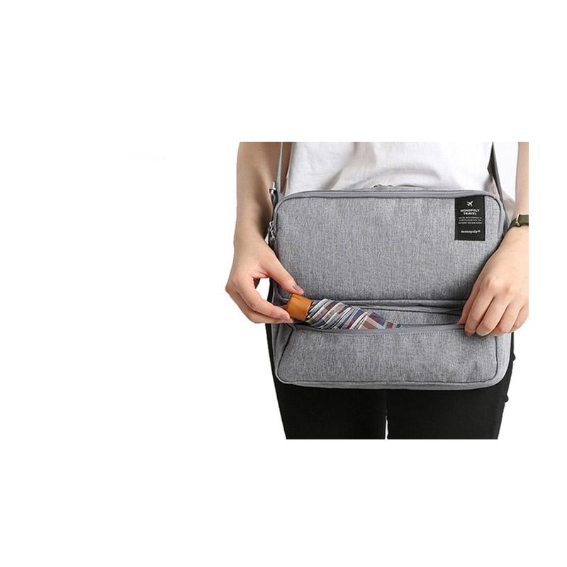 1d7fa08a421 Τσάντα Ταξιδίου με Πολλές Θήκες Χρώματος Ανοιχτό Γκρι SPM Carrybag-LGREY