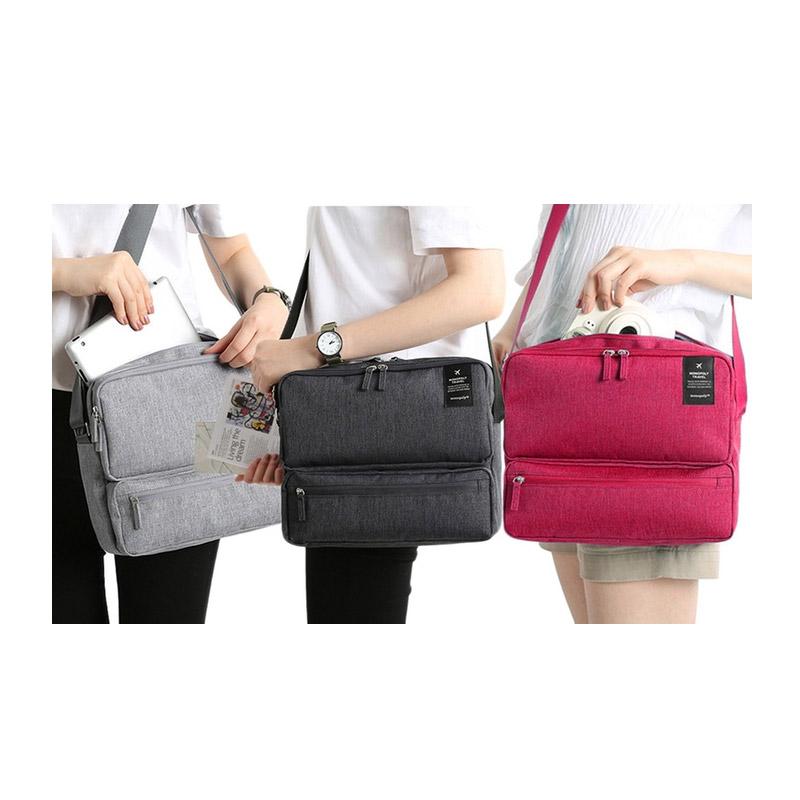 Τσάντα Ταξιδίου με Πολλές Θήκες Χρώματος Ανοιχτό Γκρι SPM Carrybag-LGREY