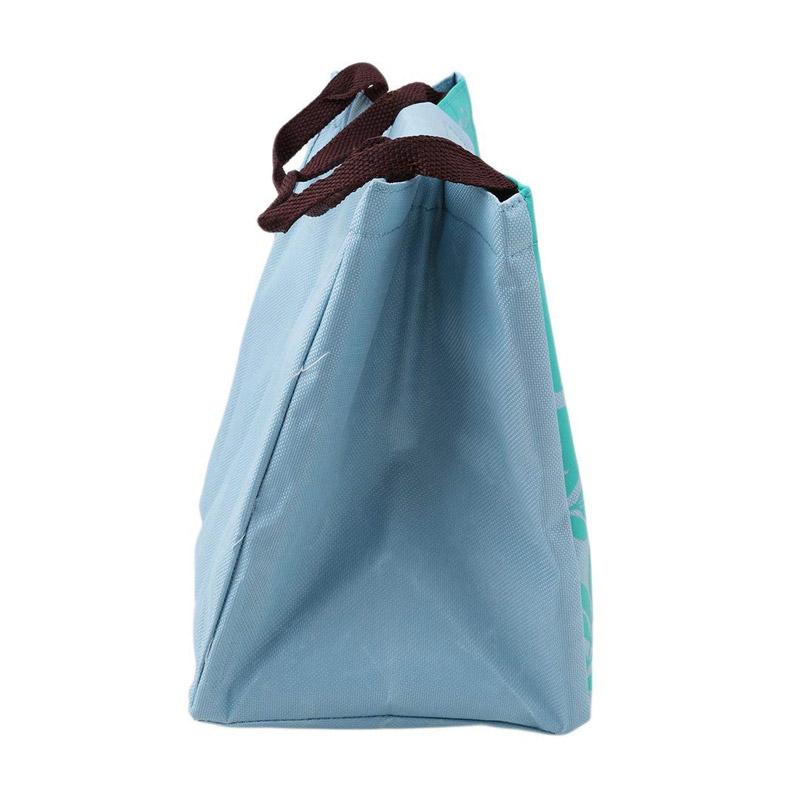 Ισοθερμική Τσάντα Φαγητού με Σχέδιο Φλαμίνγκο Χρώματος Πράσινο V1 SPM VL3193