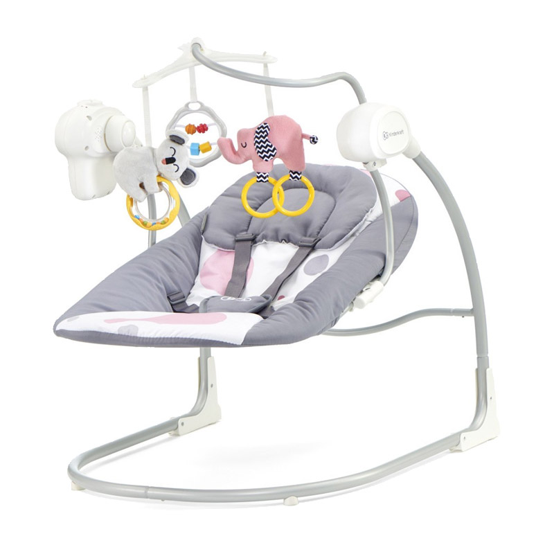 Παιδικό Ρηλάξ - Κούνια 2 σε 1 Χρώματος Ροζ KinderKraft Minky Swing KKBMINKYPNK0BS
