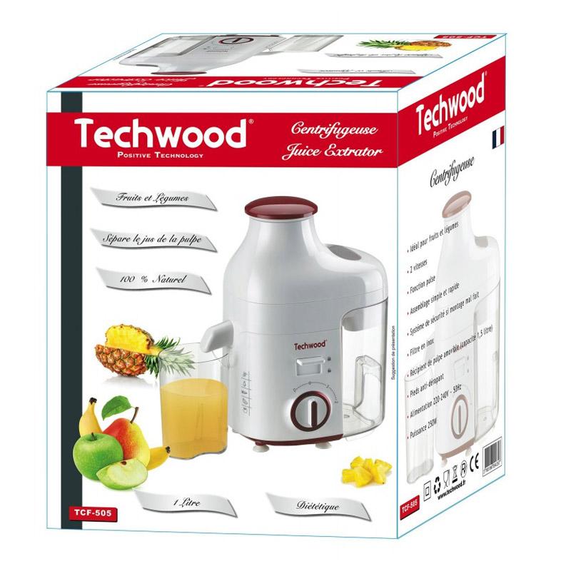 Αποχυμωτής Techwood 250 W Χρώματος Κόκκινο TCF-505